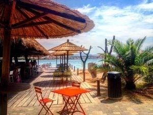 a beachside bar at the solaris beach resort sibenik