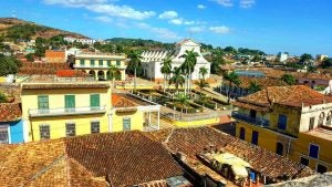 a view of the main square in trinidad cuba