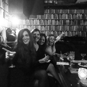 women pose for a picture at workshop whistling shop london