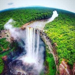 an aerial view of kaieteur falls guyana