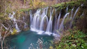 a slowed down look of plitvice falls croatia