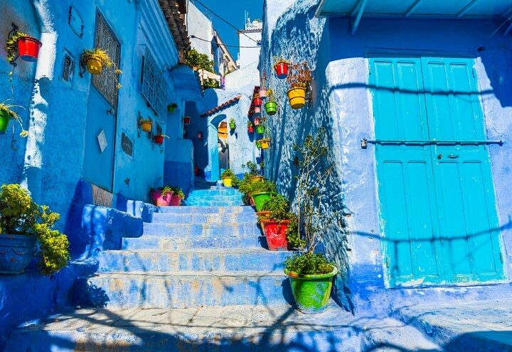 Chefchaouen blue city in Morocco