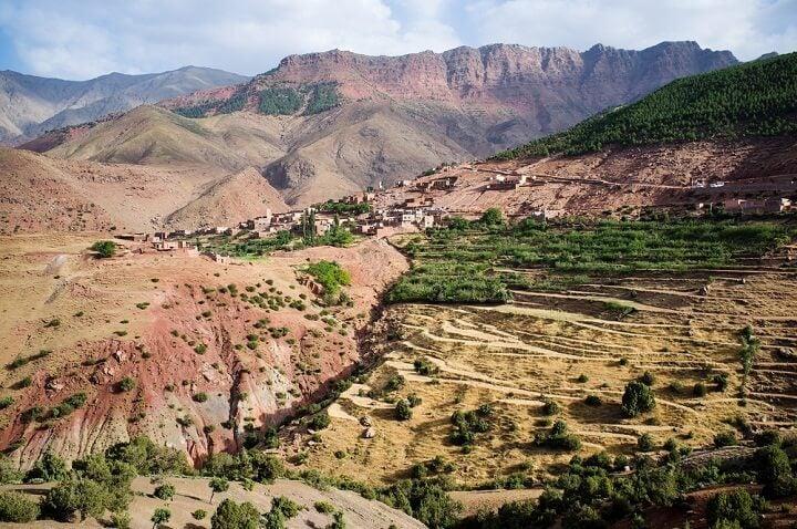 High Atlas mountain in Morocco