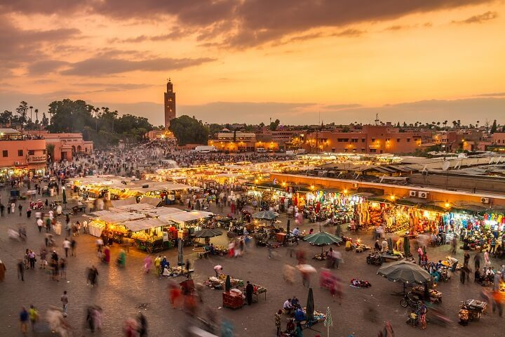 Marrakech el-fna square in Morocco