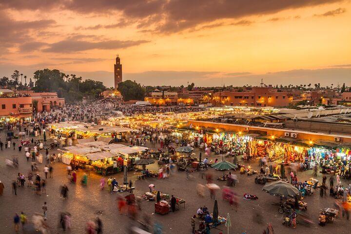 Marrakech el-fna square in Morocco