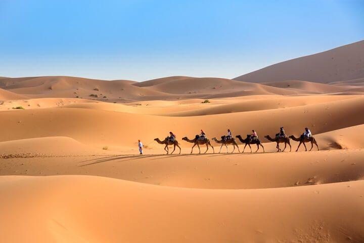 Sahara desert in marokko