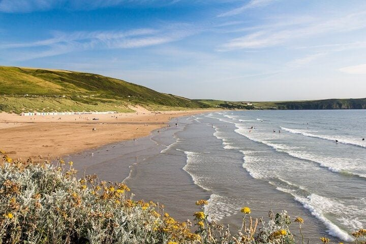 Woolacombe beach in England