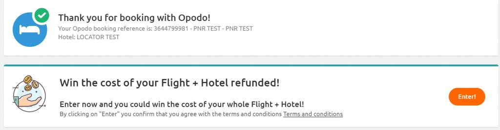 win flight + hotel
