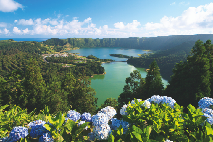 Azores - Sao Miguel Blue and Green lagoon