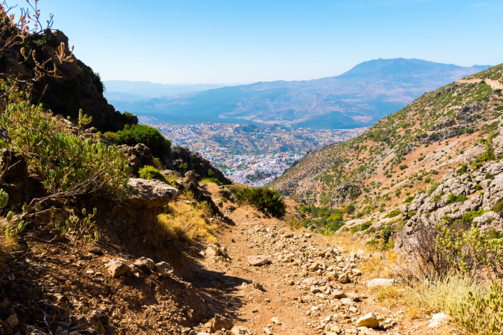 Hiking path on Rif mountains - Morocco