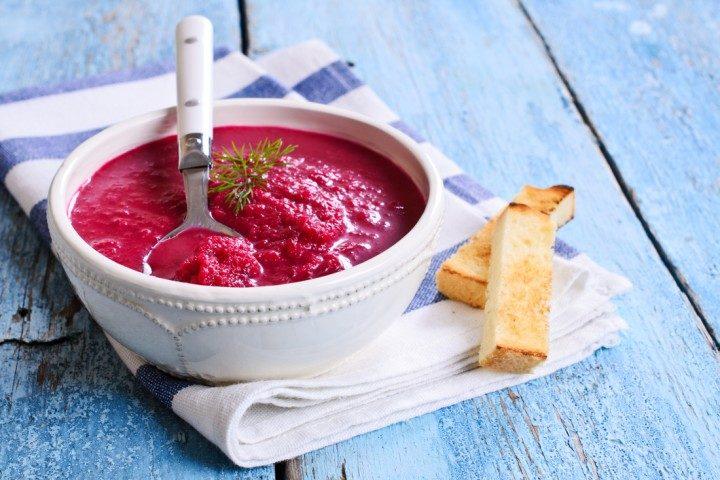 rootbeet soup, vilnius, latvia