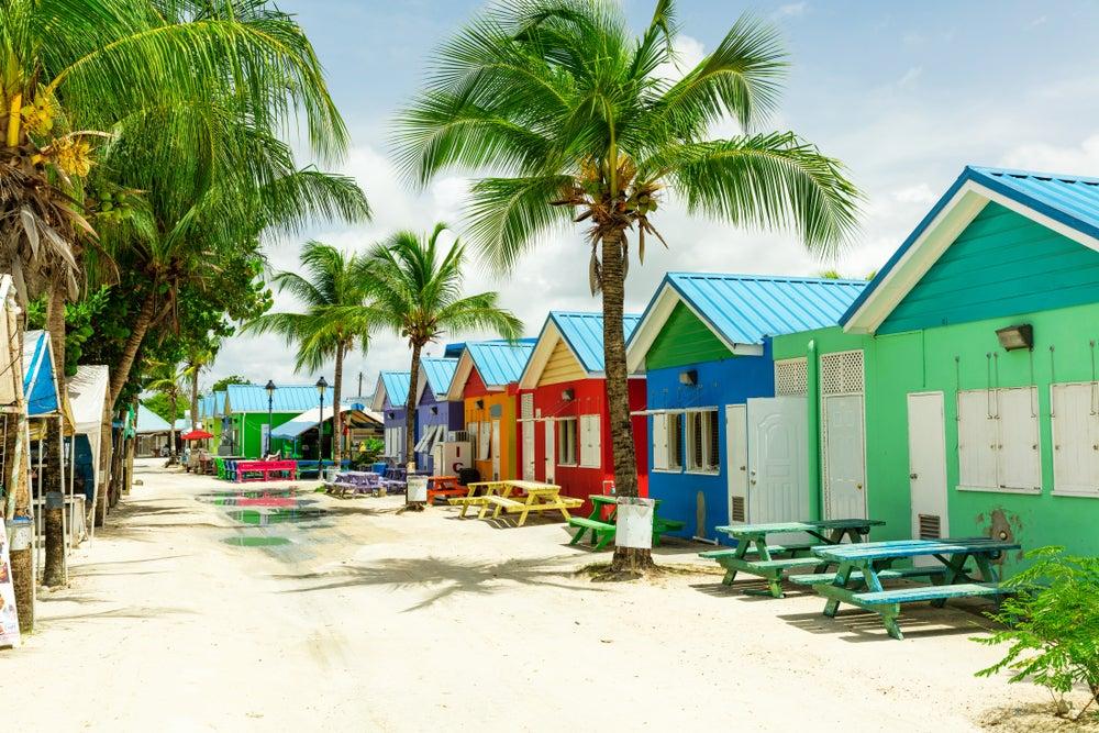 Barbados beach huts