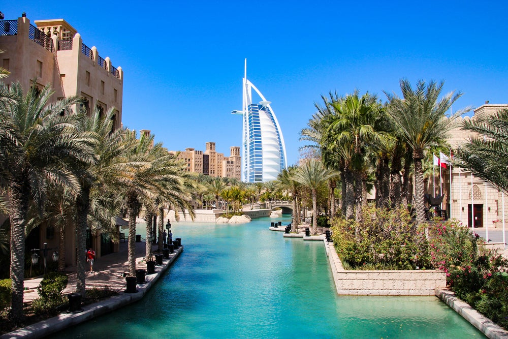 Where is hot in February? Dubai