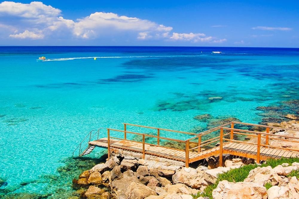 Cyprus beach on a hot February getaway