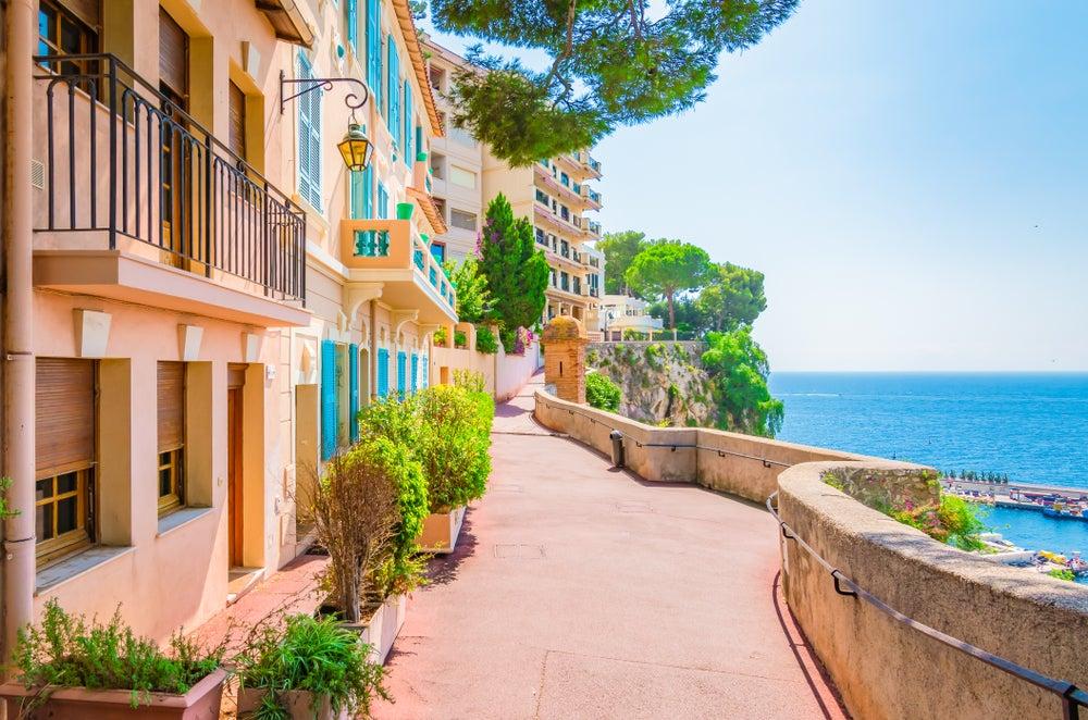 Views from the promenade in Monaco