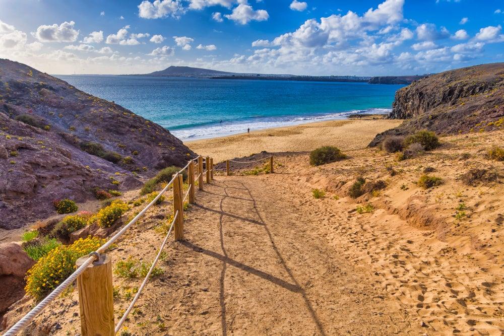 Road to Papagayo Beach, Lanzarote