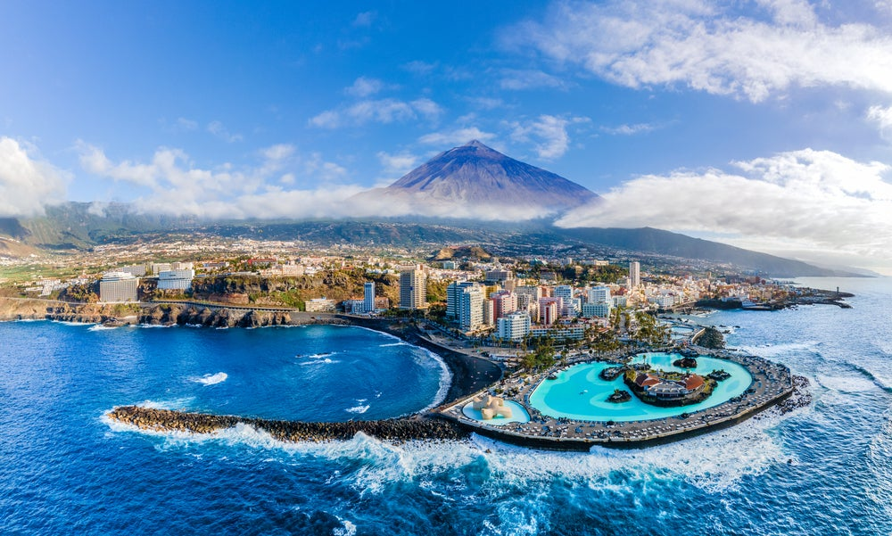 View of Tenerife with Pico del Teide in the background