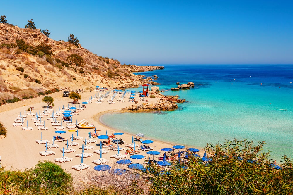 Nissi beach in Cyrus, a hot destination for October
