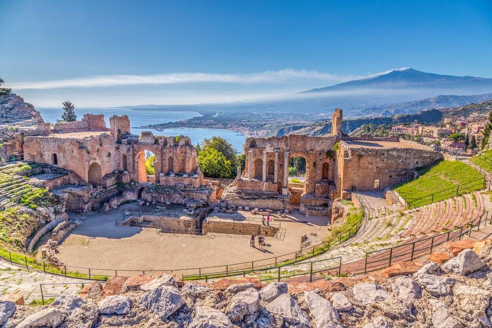 Ruins of Taormina in Sicily